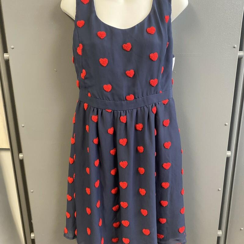 Slvless Heart Prt Dress