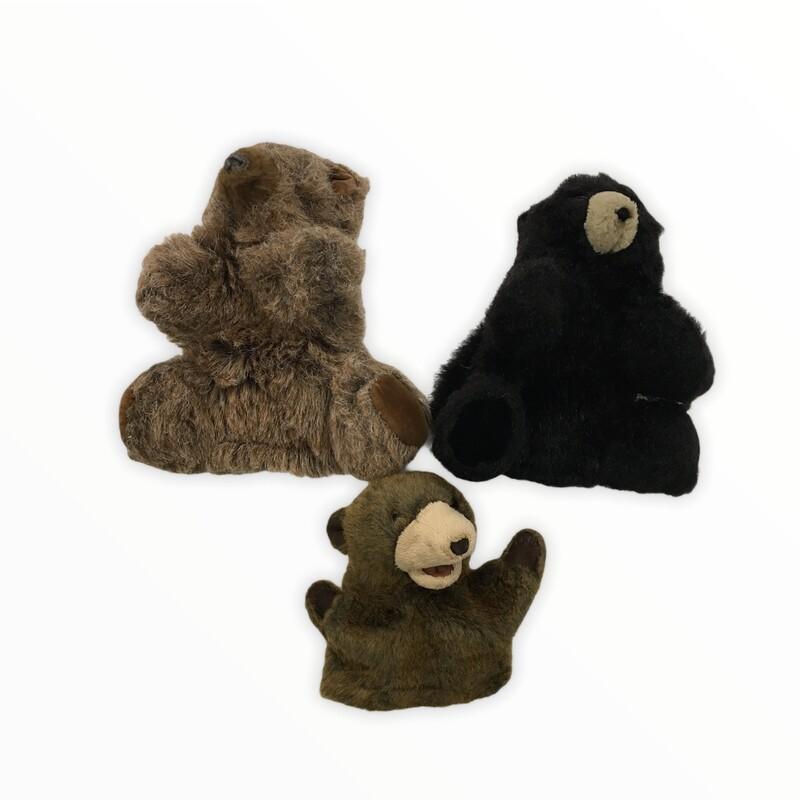 Puppets: 3pc Bears