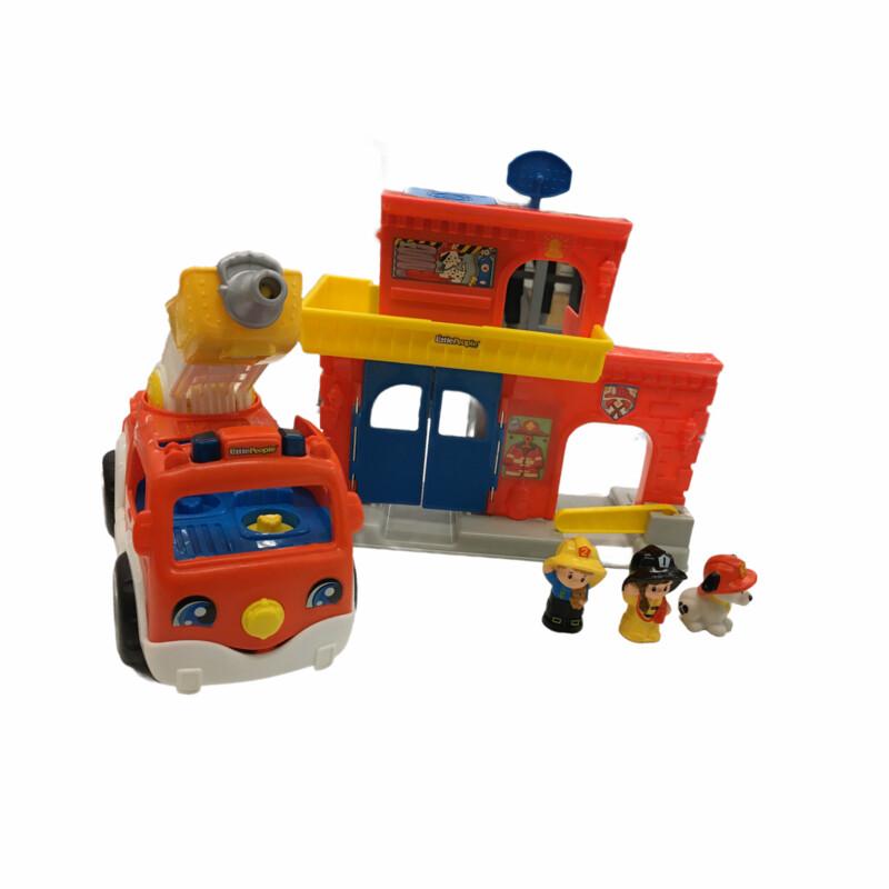 Fire Station + Truck