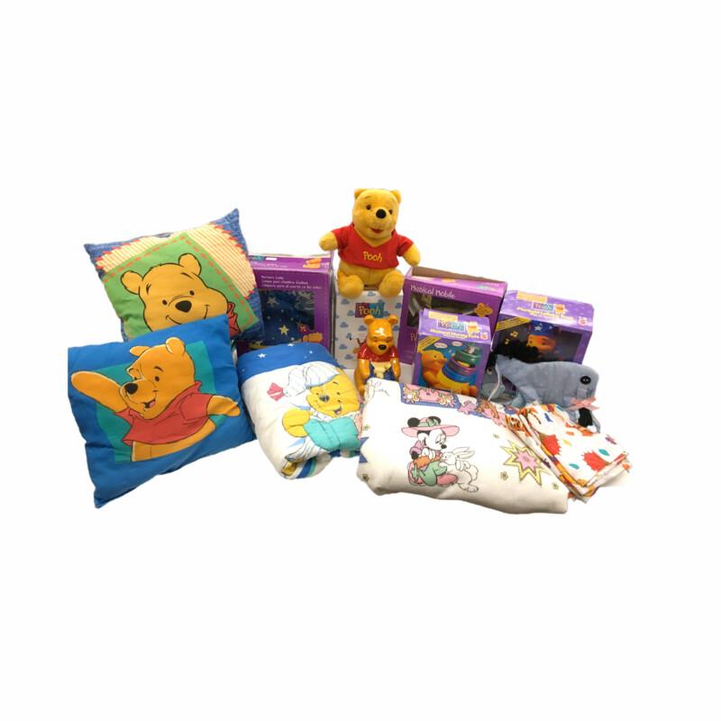 15pc Vinatge/Pooh Bedding