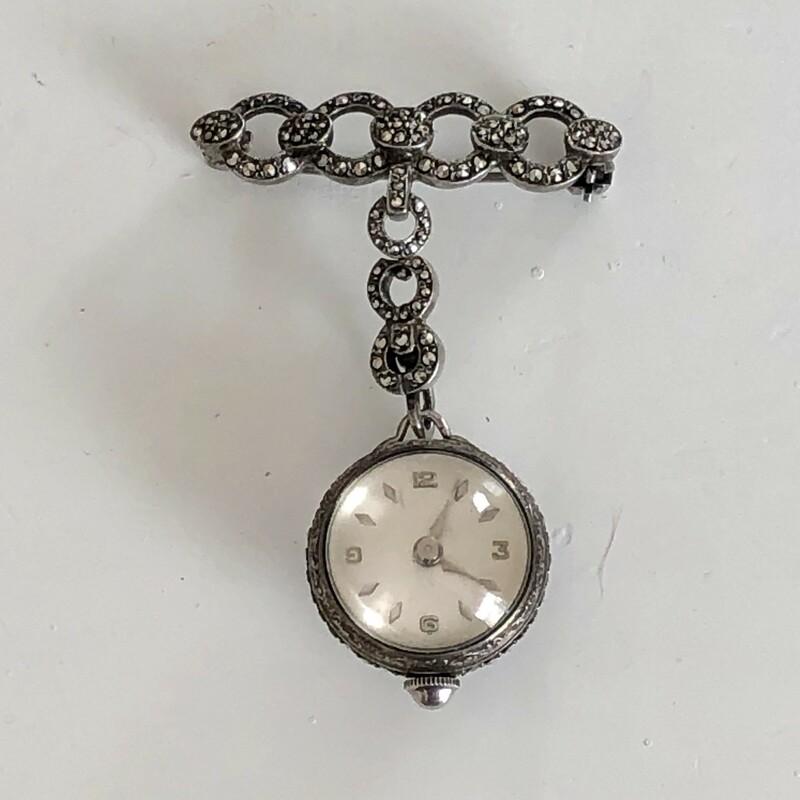 Sil/Marcasite Ball Watch
