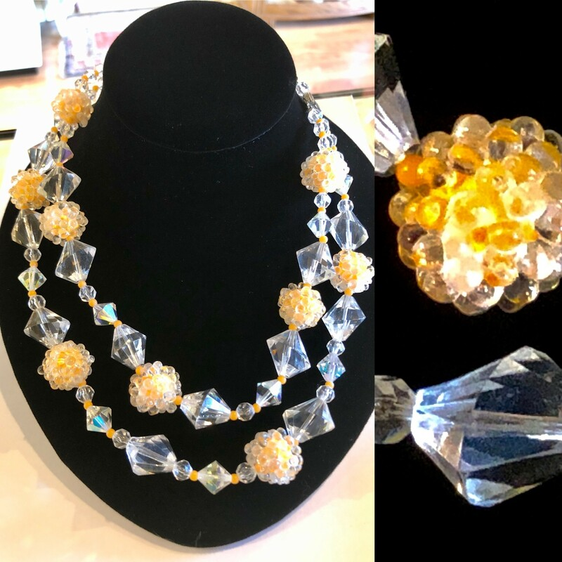 Lucite & Bead Necklace