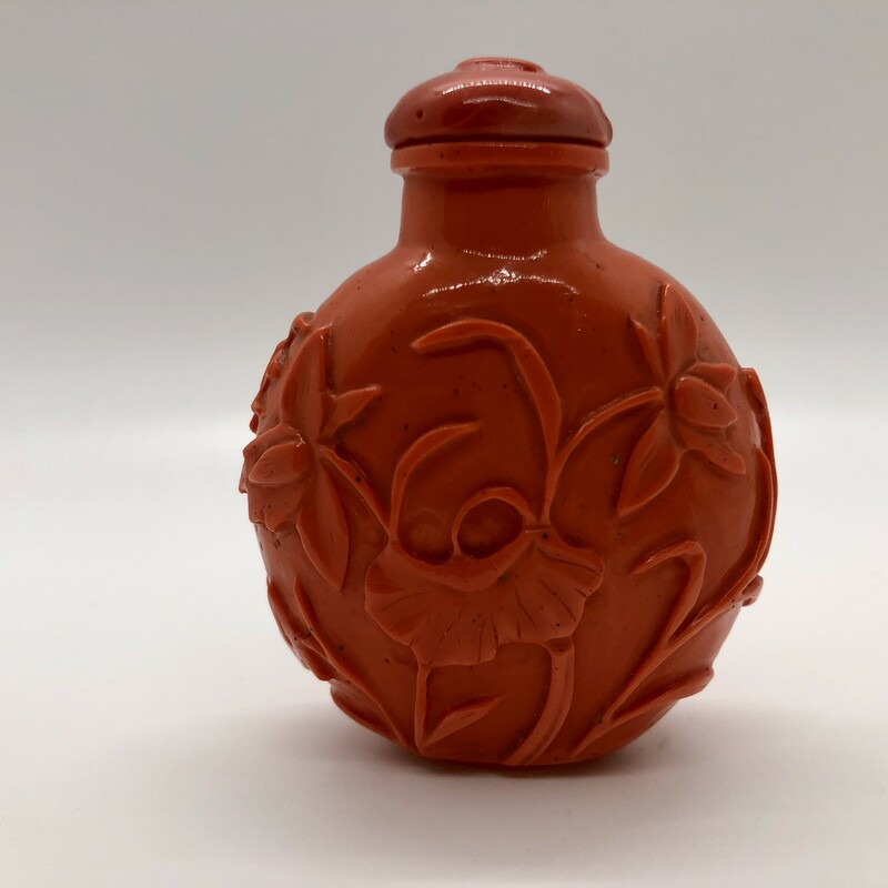 Chinese Coral Glass