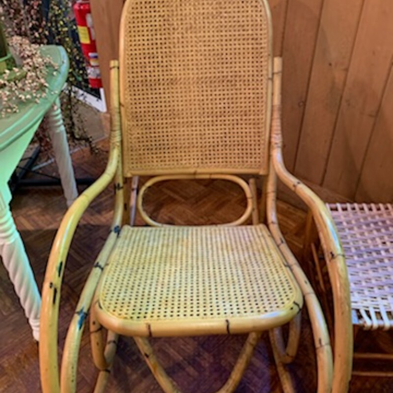 Bamboo Brentwood Rocker- New Cane Back and Seat