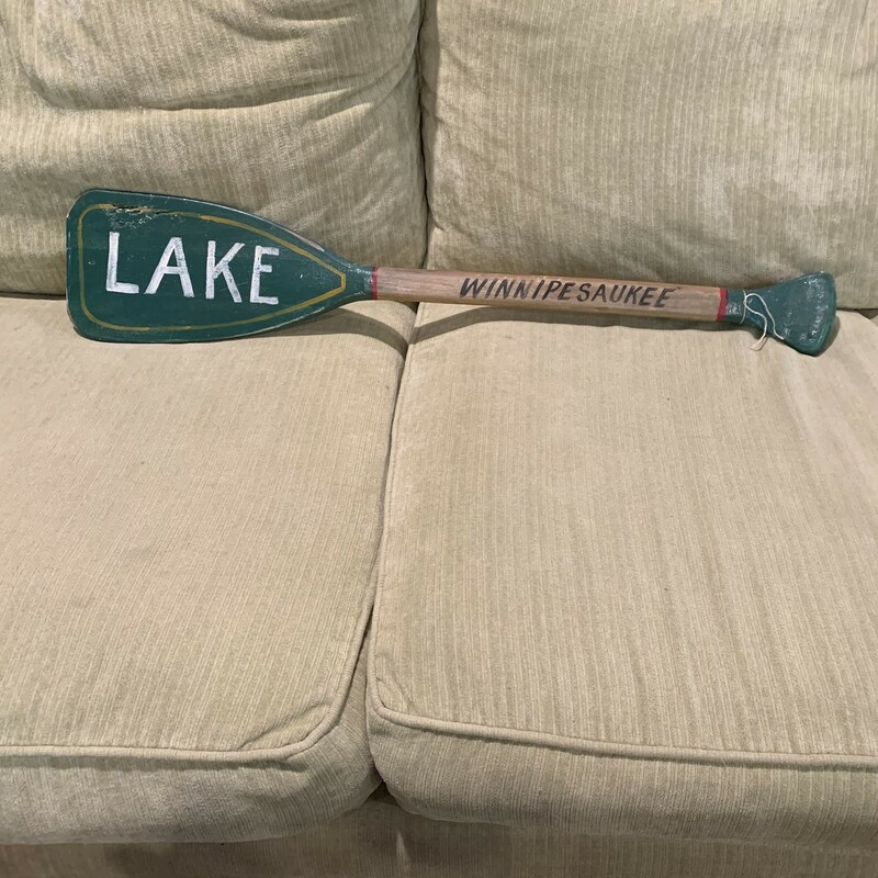 """Lake Winnipesaukee Paddle, Size:  29\"""" long This classic vinatage souvenir paddle is one of a kind find!"""