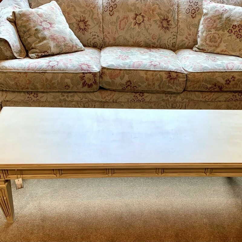 Beige Large Coffee Table, Size: 54x20x16