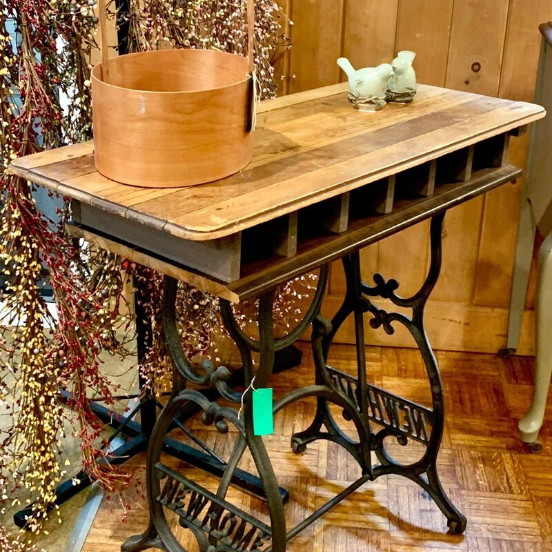 """Repurposed Sewing Table, Size: 36\""""L X 14\""""W x 33\""""H"""