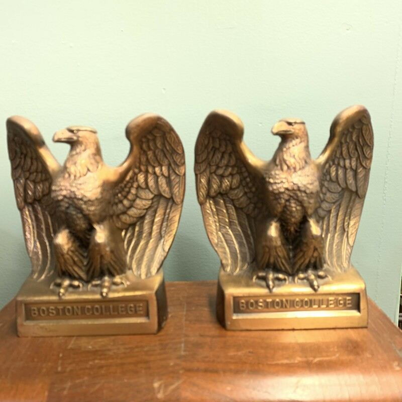 Metal Eagle Bookends