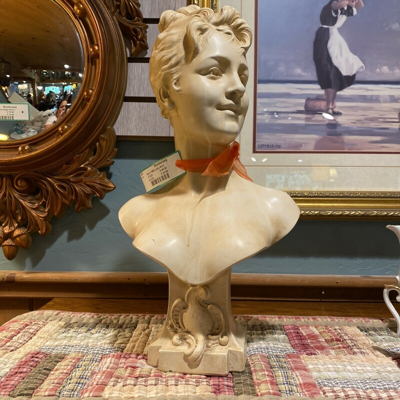 Esco 1958 Victorian Lady Bust - $66.50 She is 17 IN Tall and very refined!