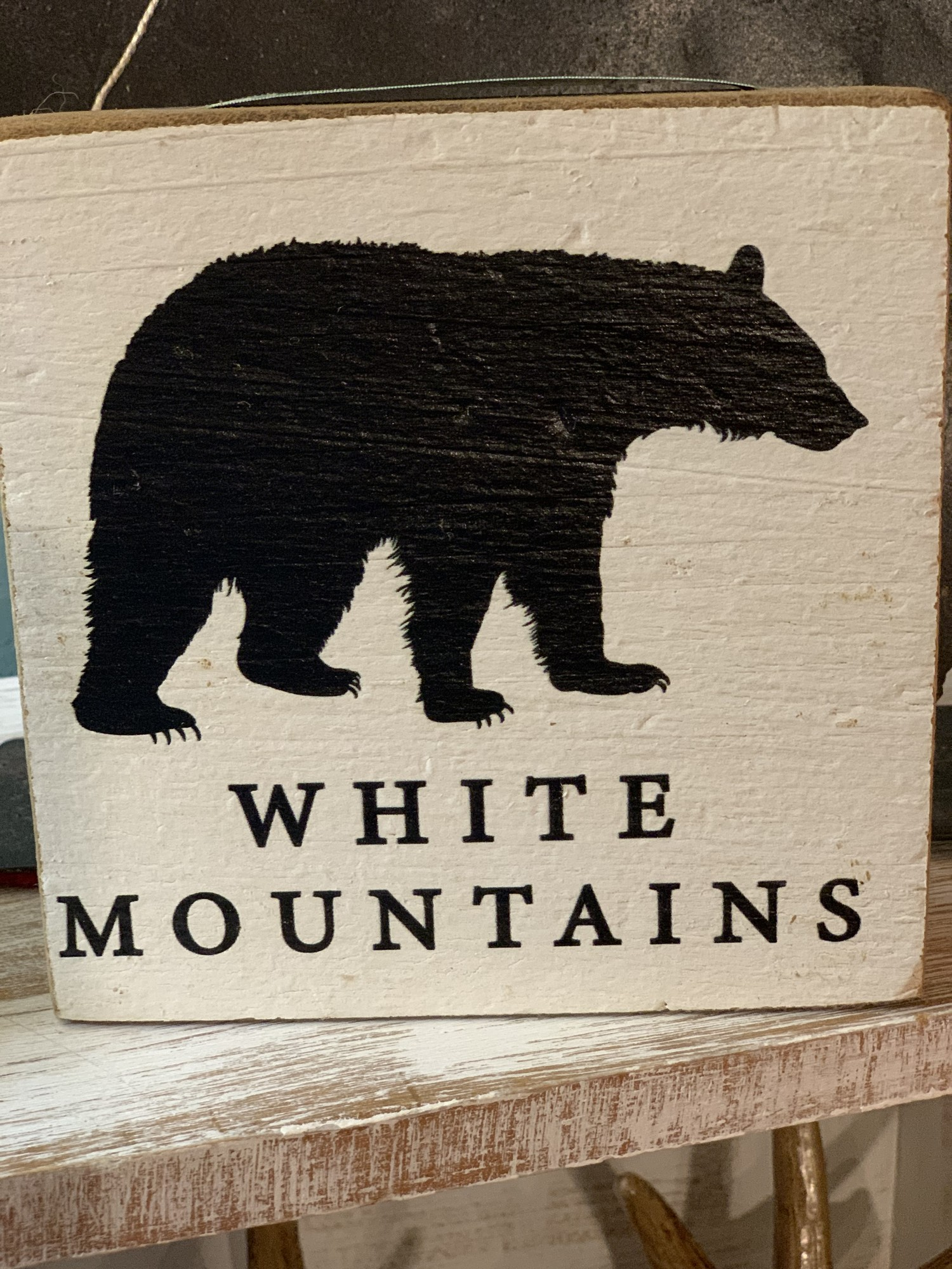White Mountains Wooden Sign