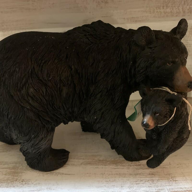 Bear W/Baby Statue