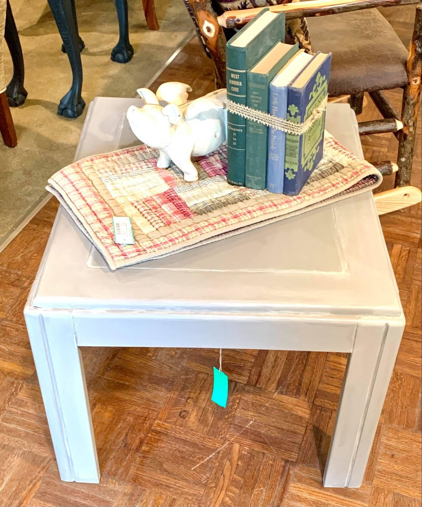 Square Mink Side Table, None, Size: 27x27x20