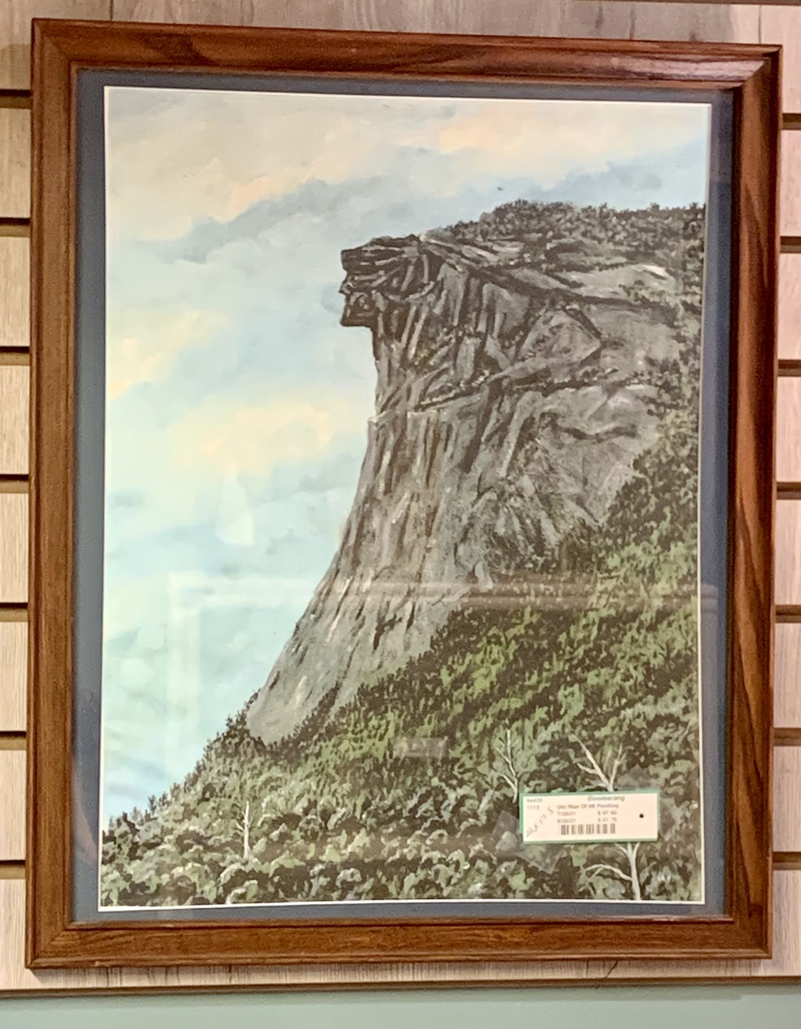 Old Man Of the Mountain Painting - $97.50<br /> 22IN Tall X 17.5IN Wide