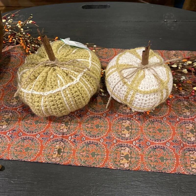 White & Yellow Pumpkins (