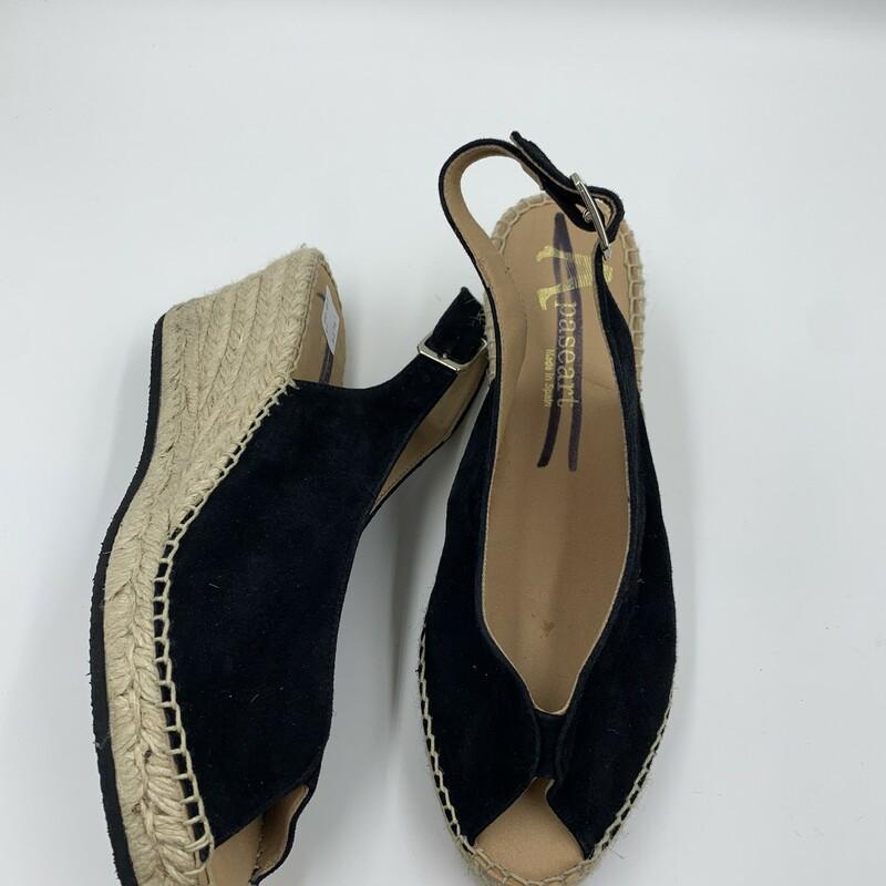 Paseart Wedges MdInSpain, Black, Size: 10