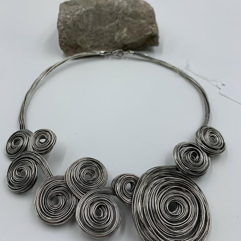 Necklace Wire, Silver, Size: None