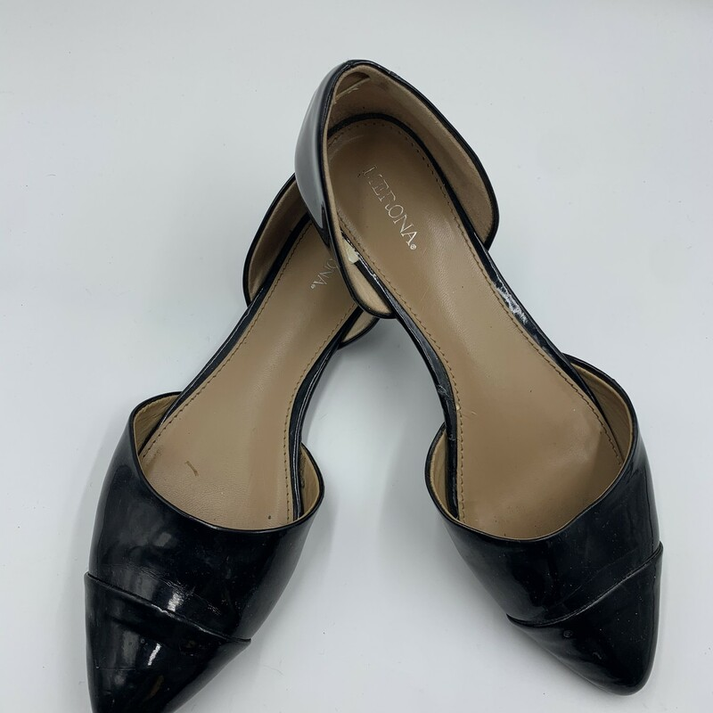Merona Flat, Black, Size: 8