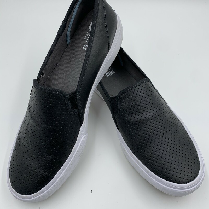 Keds Slip On, Black, Size: 10