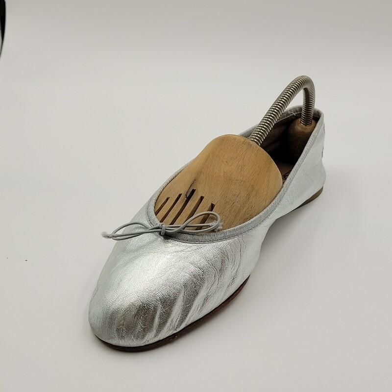 Joto Flats, Silver, Size: 9