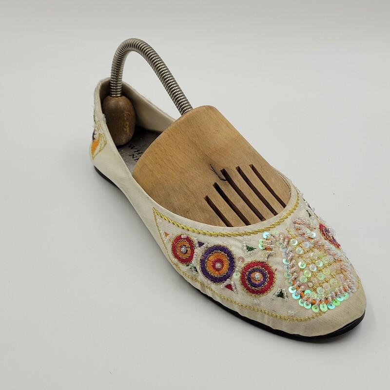 Whatsnew Sandal W Beads, Wht/mul, Size: 9