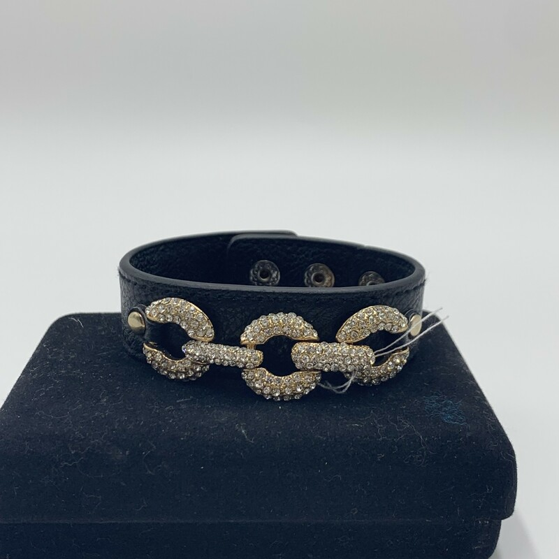 Bracelet With Crystals, Blk, Size: None