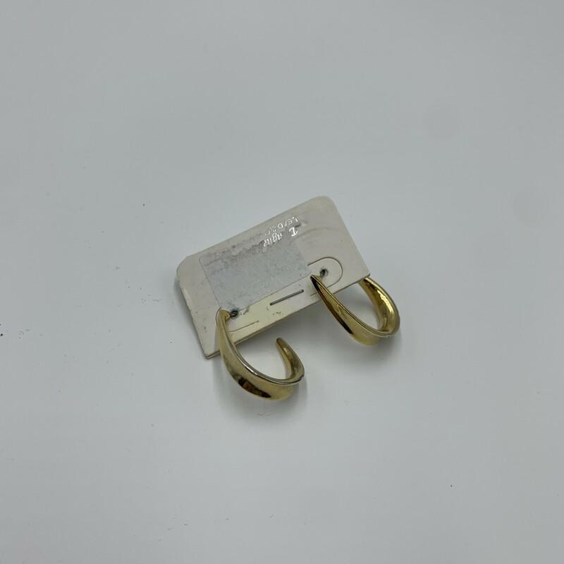 Gold Earrings, Gold, Size: N/a