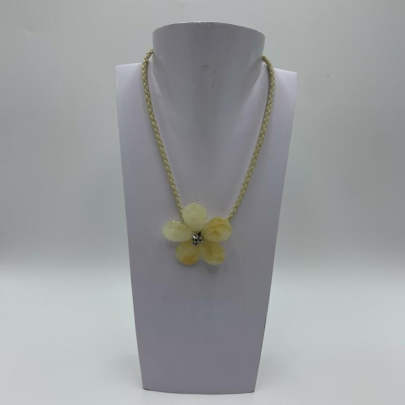 Necklace Huge Flower, Ivory, Size: N/a