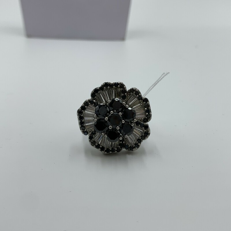 Flower Cyrstal Ring, None, Size: None
