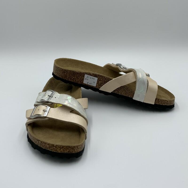 Viking Sandal, Peach/sl, Size: 6