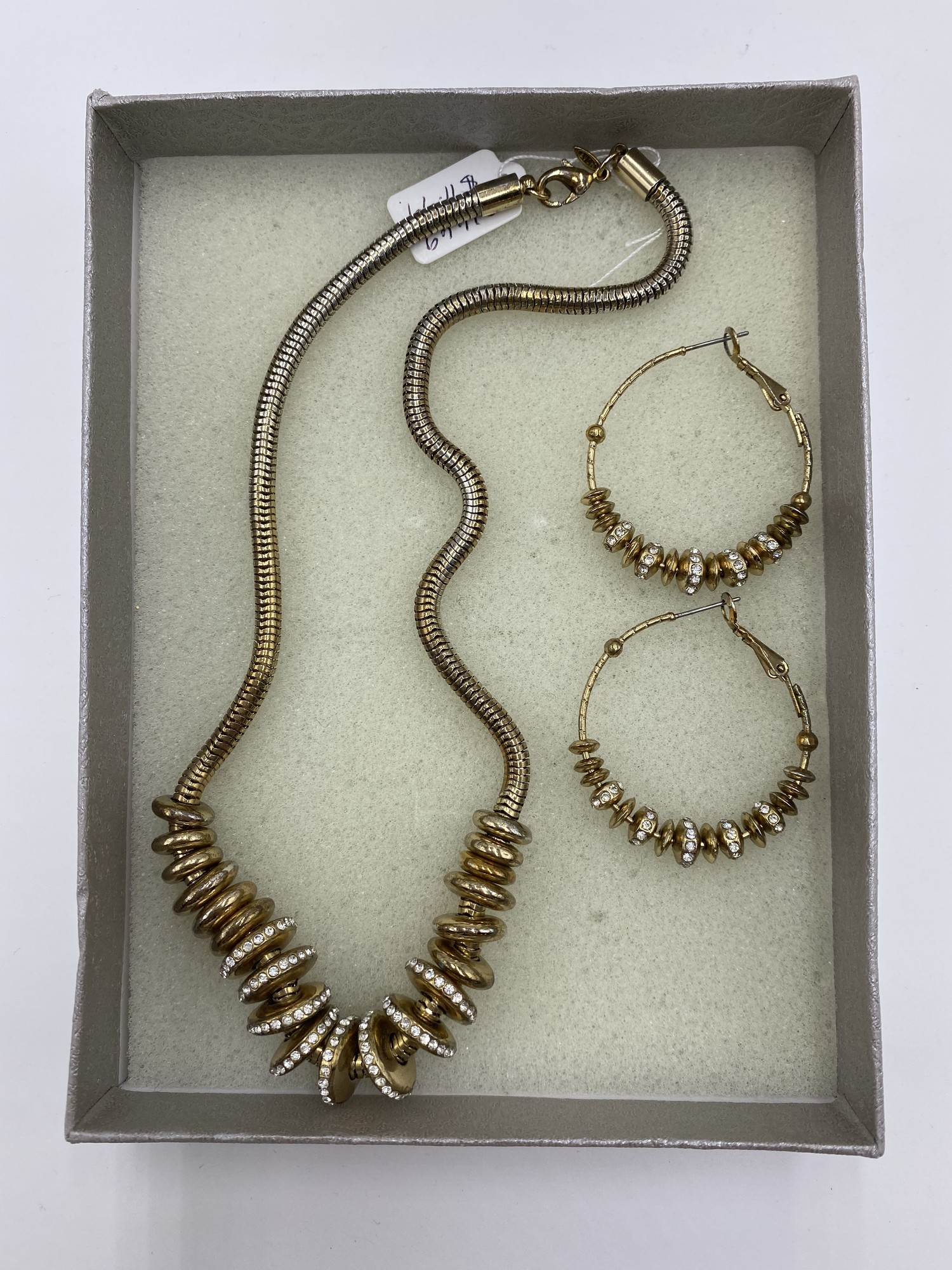 Necklace/earings, Gold, Size: None