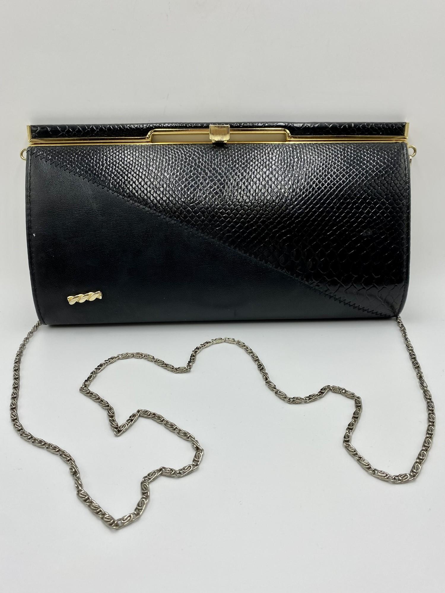 Evening Bag England, Black, Size: None