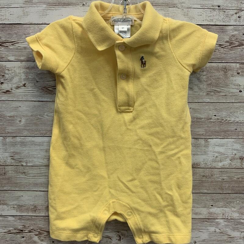 Ralph Lauren Romper, Yellow, Size: 6m Boys