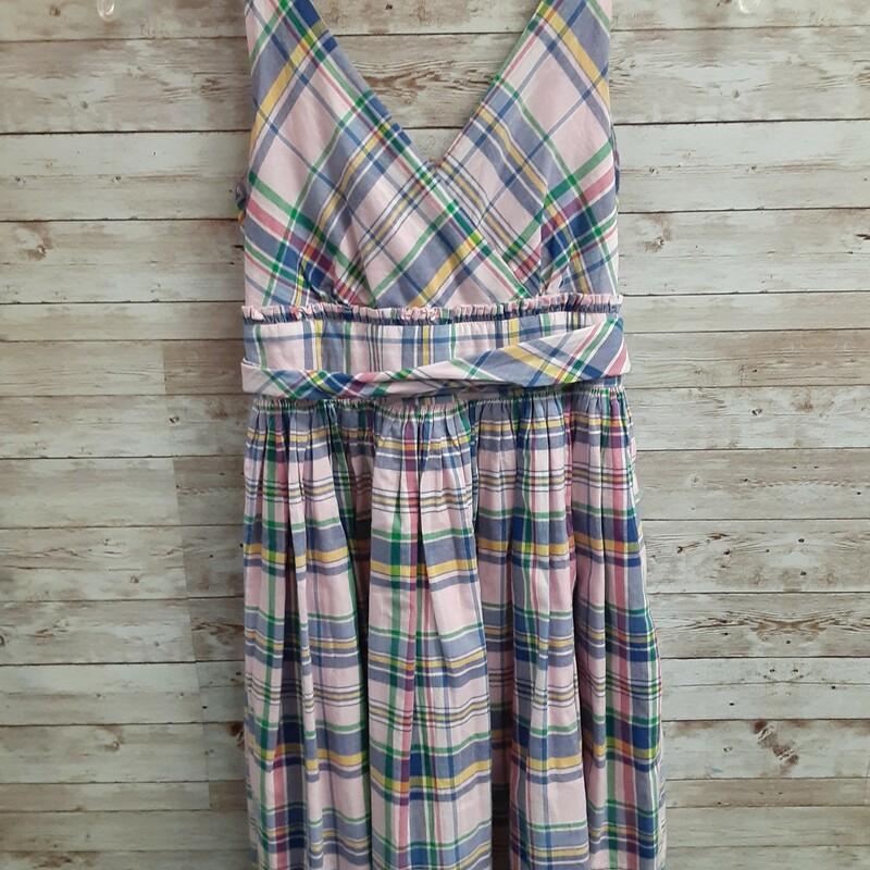 Ralph Lauren Plaid Dress, Pink, Size: 10 Girls