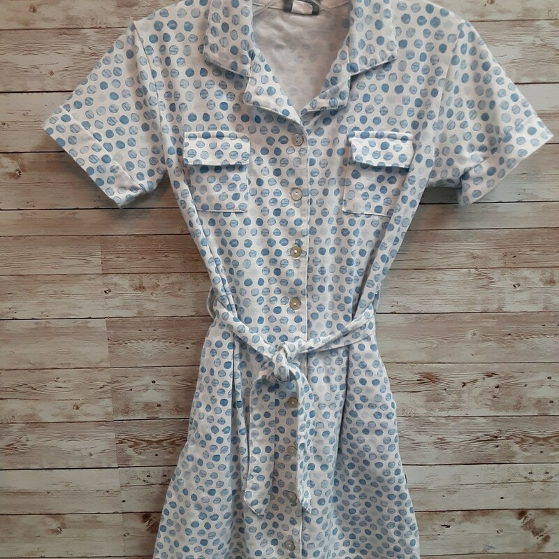 Tooby Do Belted Dot Dress