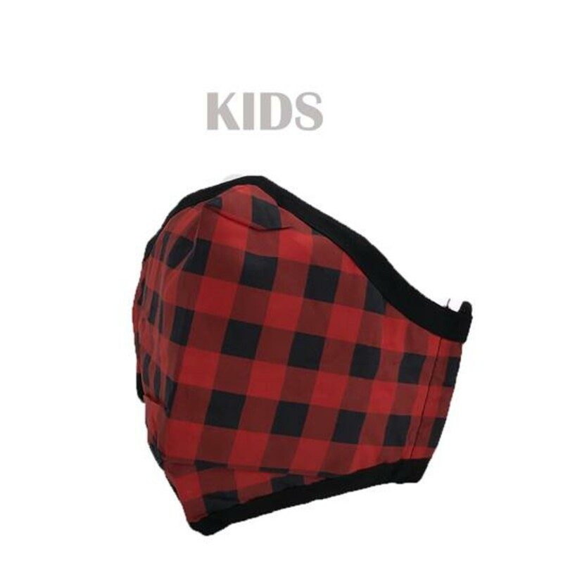 YOUTH RED/BLACK MASK