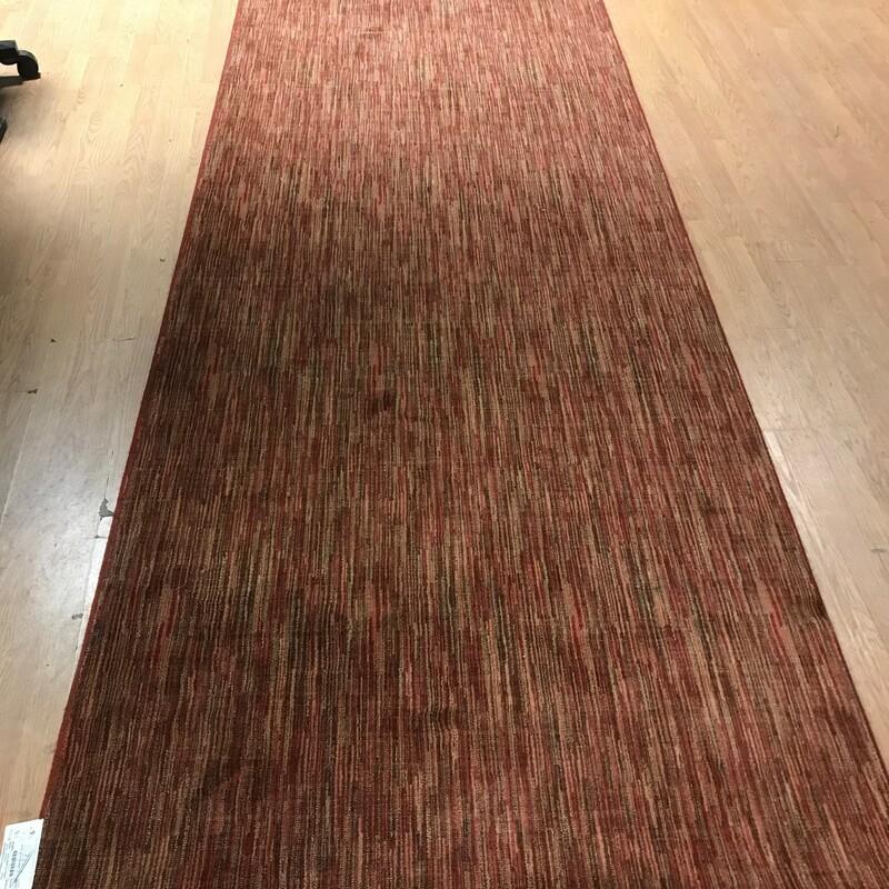 Modern Wool Runner, Rust/tan, Size: 4.6 X 12