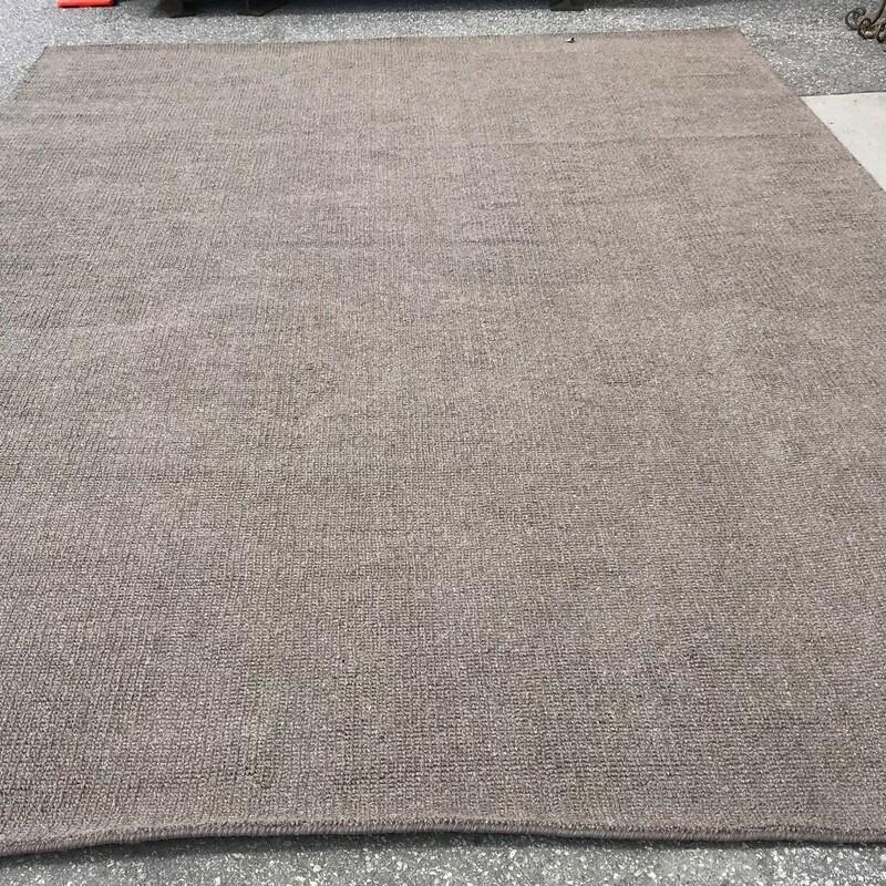 Wool Rug Sisal Look Style, Grey, Size: 10 X 15