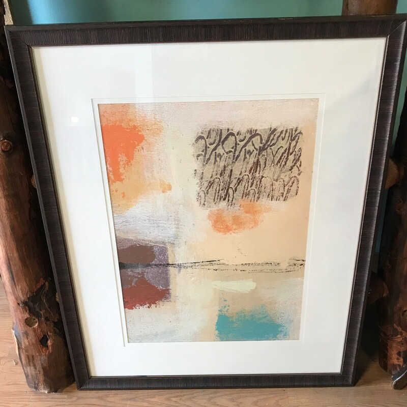 Abstract Expression Moder, Print, Framed Size: 33in x 41in