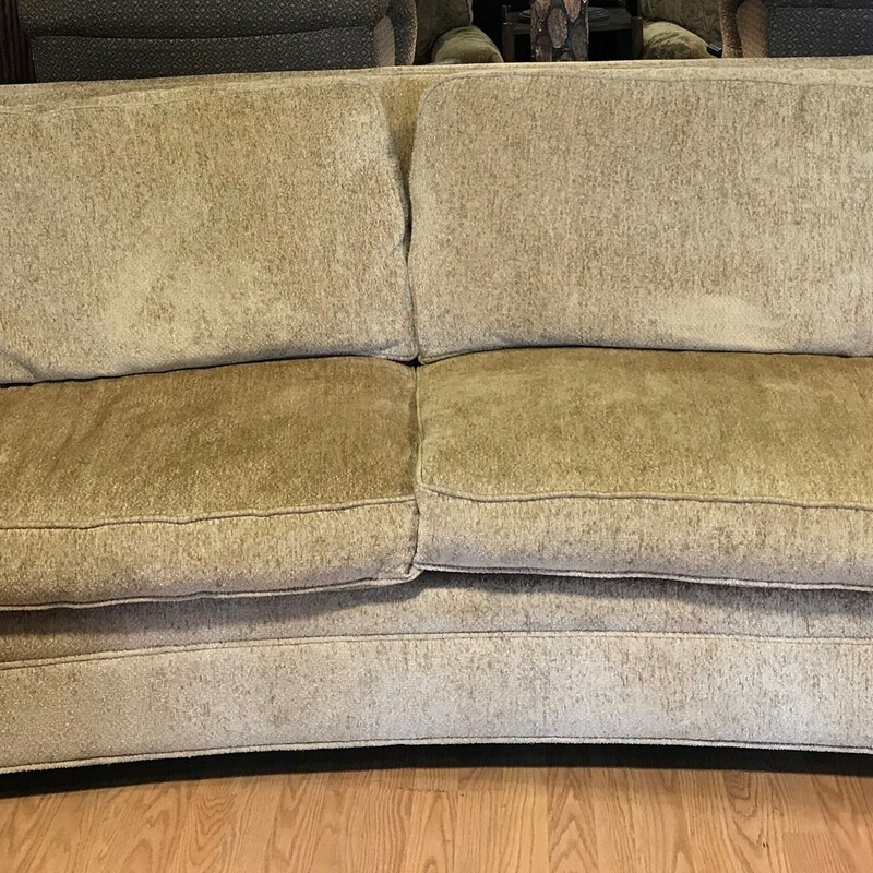Key City Curved Sofa, Gold, Chenille Size: 89in x 37in x 46in