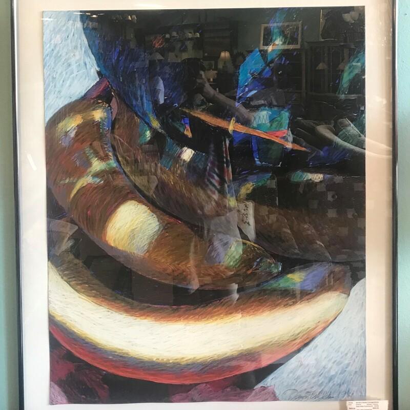 Dawn Wilde Pastel/acrylic, Banana, Framed Size: 38in x 46in