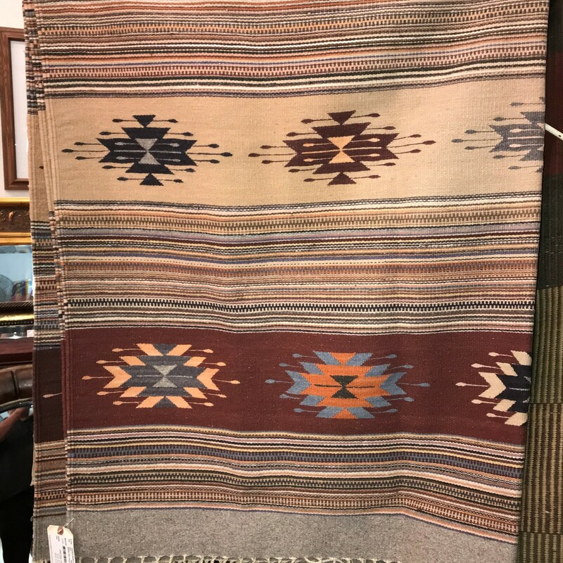 Zapotec Wool Rug Flatweav, NatAmer, Size: 6 X 8