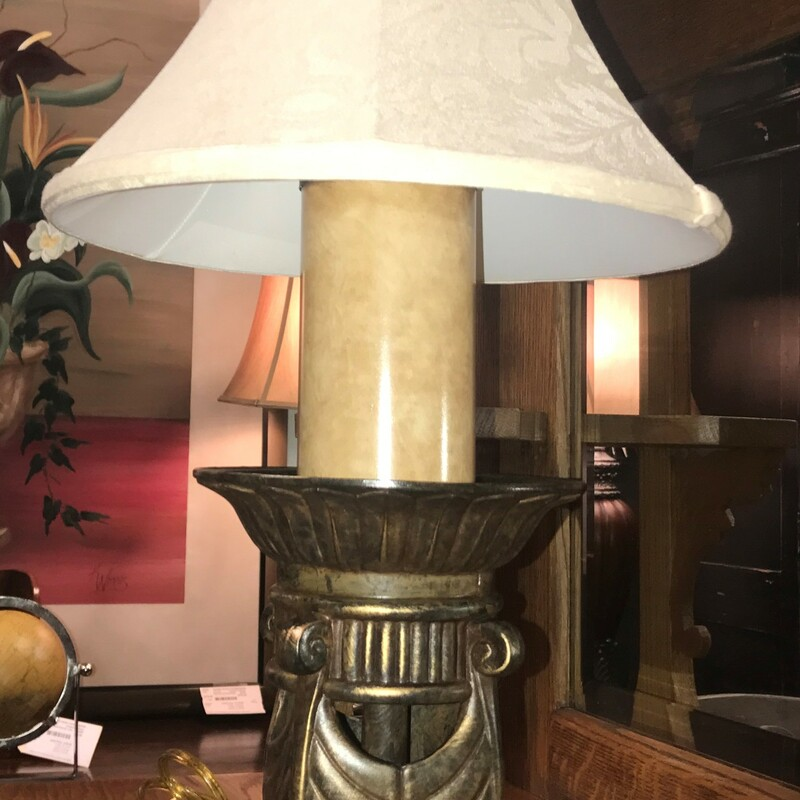 Cambridge Table Lamp, Metal, Shade Size: 31in