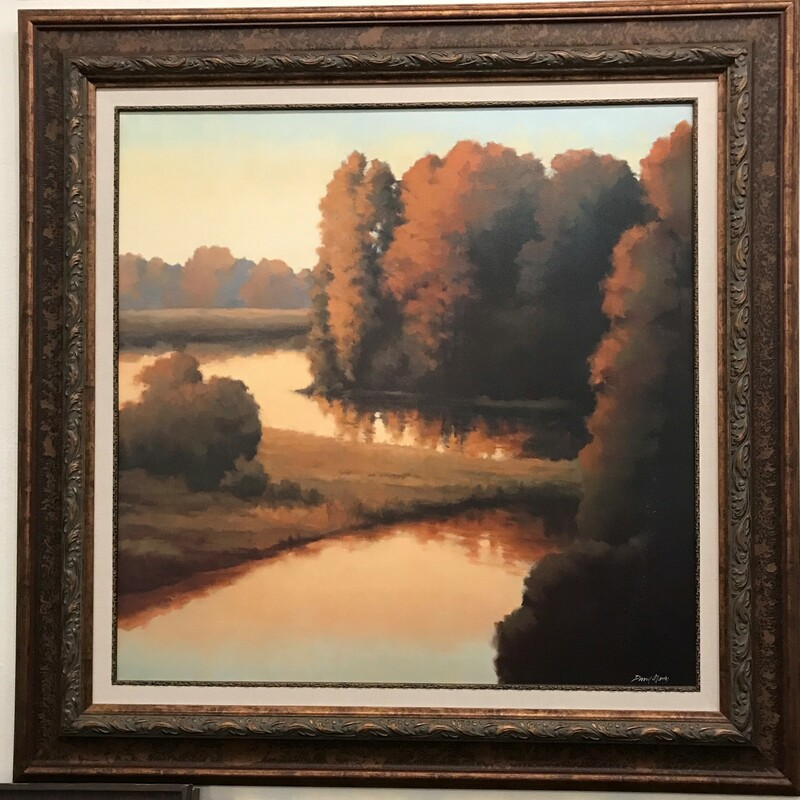 Twilight Reflection, Giclee, Framed Size: 48in x 48in