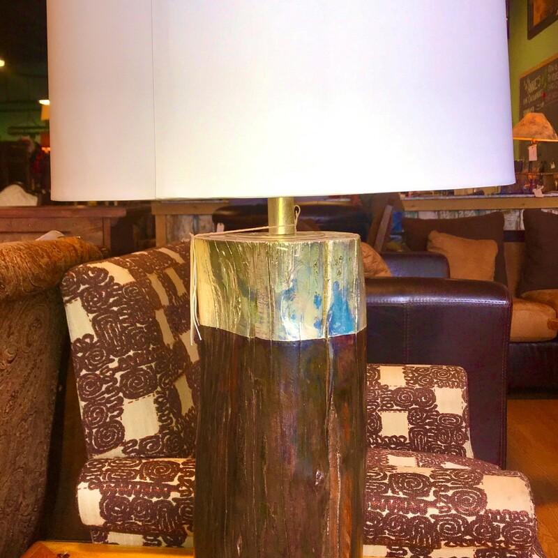 Modern Log Table Lamp