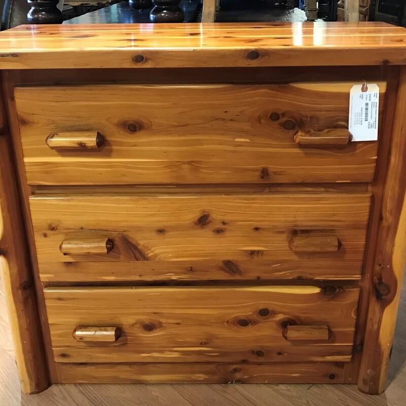 Redwood Log Dresser