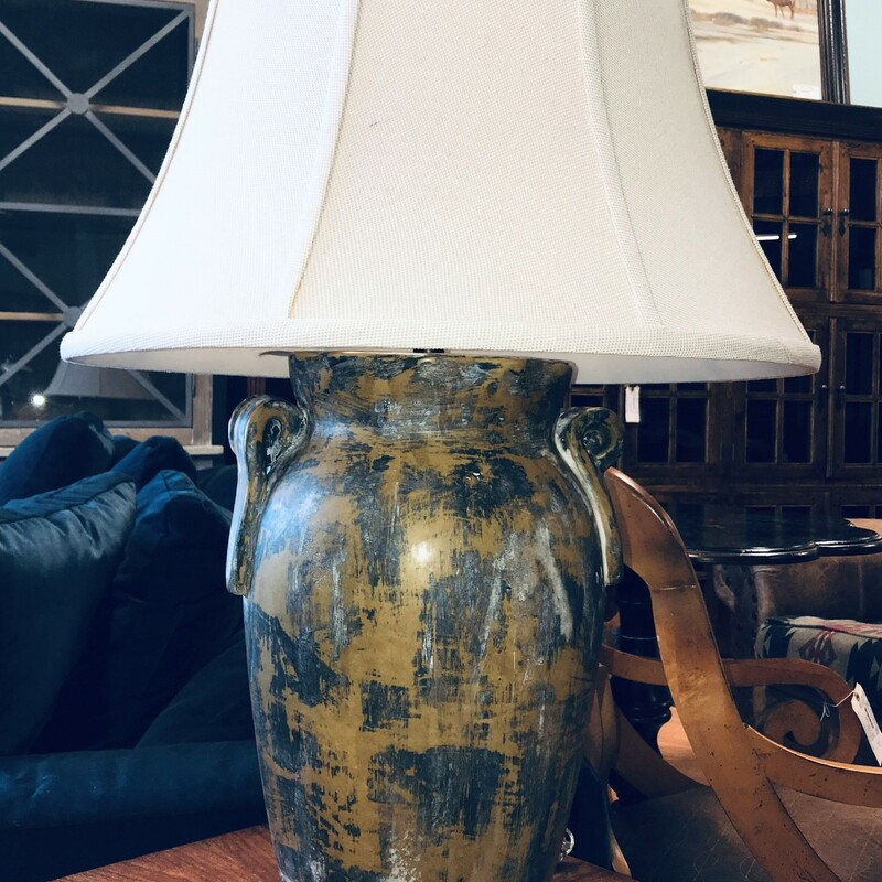 Pottery/old Jug TableLamp, Shade Size:  35in