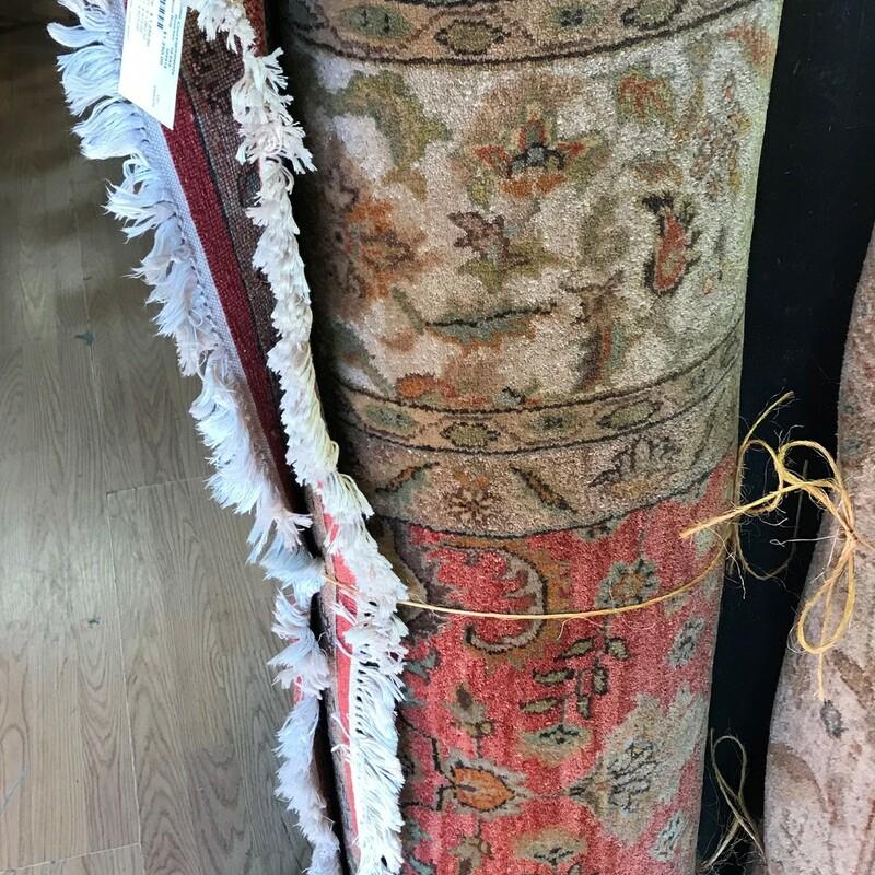 Handmade Wool Rug, Rust/tan, Size: 10.6ft x 8ft