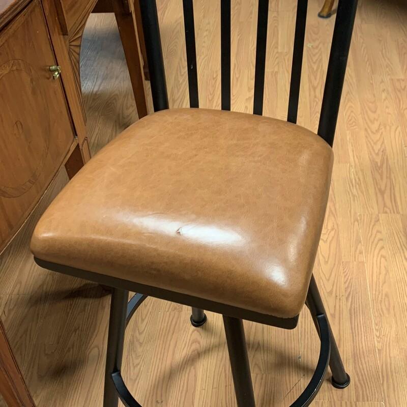 Steer Head Leather Swivel, Blk/brn, Size: -