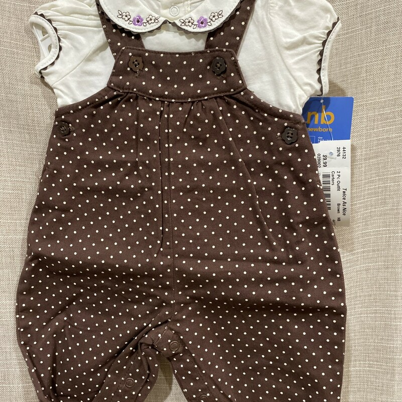 Carters, Brown, Size: NB New with tags