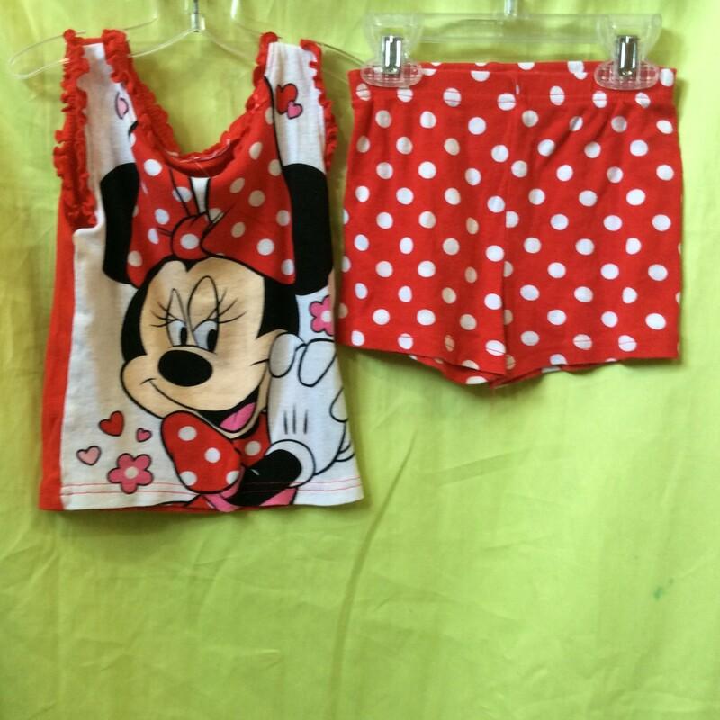 Disney Minnie, Red, Size: 3T